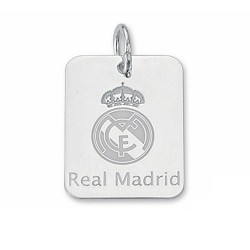 Chapa escudo Real Madrid Plata de ley pequeña [6781]