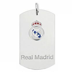 Chapa escudo Real Madrid Plata de ley grande esmalte [6786]