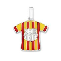 Camiseta escudo F.C. Barcelona Plata de ley segunda equipación [6962]