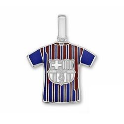 Camiseta escudo F.C. Barcelona Plata de ley escudo grande [6963]