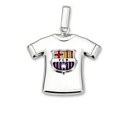 Camiseta escudo F.C. Barcelona Plata de ley estampada [6967]