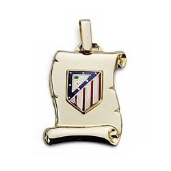 Pergamino escudo Atlético de Madrid oro de ley 18k mediano [6977]