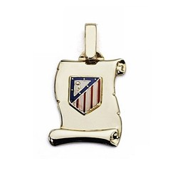 Pergamino escudo Atlético de Madrid oro de ley 18k pequeño [6978]