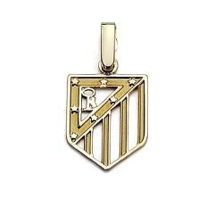 Colgante escudo Atlético de Madrid oro de ley 18k 16mm. calado [6980]