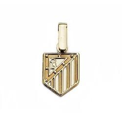 Colgante escudo Atlético de Madrid oro de ley 9k 12mm. liso [6997]