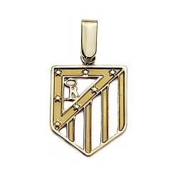 Colgante escudo Atlético de Madrid oro de ley 9k 20mm. calado [7003]