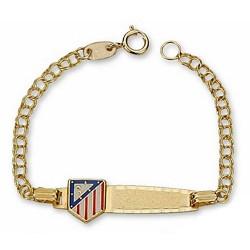 Pulsera escudo Atlético de Madrid oro de ley 9k bebé esmalte [7006]