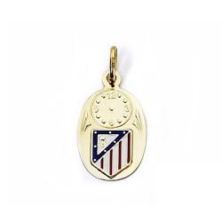 Medalla escudo Atlético de Madrid oro de ley 9k esmalte [7007]