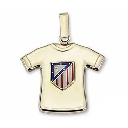 Camiseta escudo Atlético de Madrid oro de ley 9k estampada [7011]