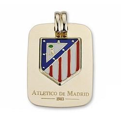 Chapa escudo Atlético de Madrid oro de ley 9k esmalte [7012]