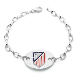 Pulsera escudo Atlético de Madrid Plata de ley 20cm. 1 placa [7056]