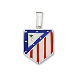 Colgante escudo Atlético de Madrid Plata de ley 20mm. esmalte [8443]