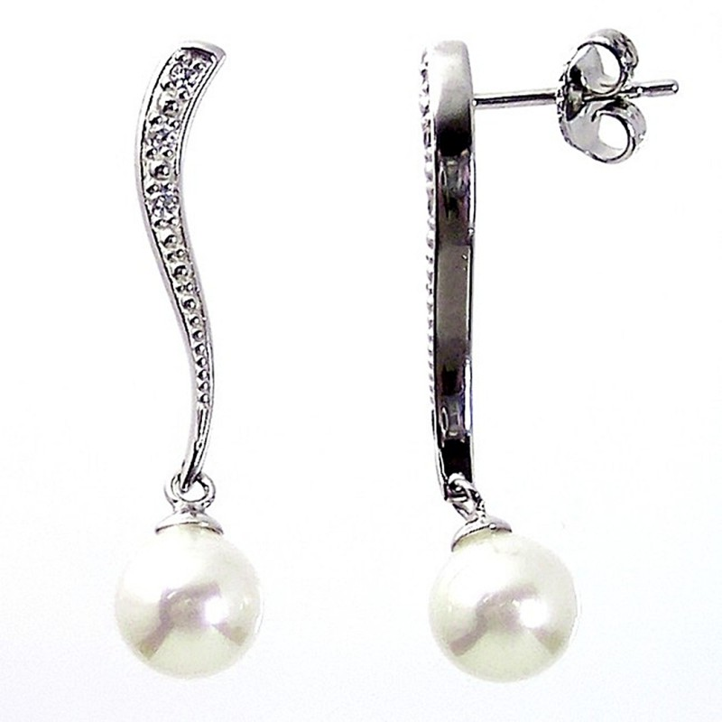 75bd3edce2cf Pendientes plata perla Majórica  2261
