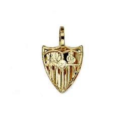 Colgante escudo Sevilla FC oro de ley 18k espalda pequeño [8582]