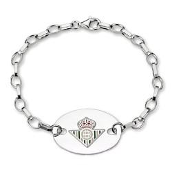 Pulsera escudo Real Betis plata de ley chapa oval [8629]