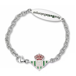 Pulsera escudo Real Betis plata de ley chapa ovalada [8631]