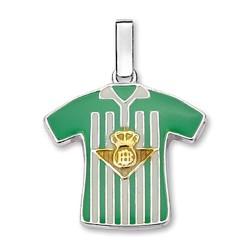 Colgante camiseta escudo Real Betis plata de ley [8647]