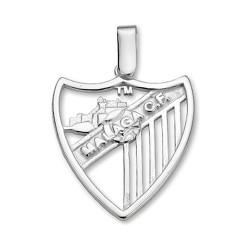 Colgante escudo Málaga CF plata de ley calado grande [8662]