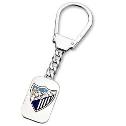 Lllavero escudo Málaga CF plata de ley chapa esmalte [8673]