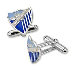 Gemelos escudo Málaga CF plata de ley esmalte [8674]