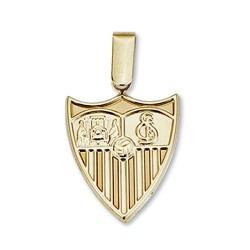 Colgante escudo Sevilla FC oro de ley 9k 20mm. liso [8688]