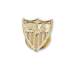 Pin escudo Sevilla FC oro de ley 9k 16mm. liso [8695]