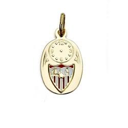 Colgante medalla escudo Sevilla FC oro de ley 9k bebé [8699]