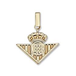 Colgante escudo Real Betis oro de ley 9k 21mm. liso [8705]