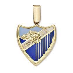 Colgante escudo Málaga CF oro de ley 9k 19mm. [8721]