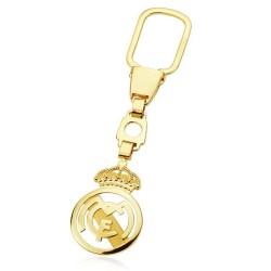 Llavero escudo Real Madrid oro de ley 18k calado [AA0635]