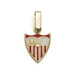 Colgante escudo Sevilla FC oro de ley 18k 12mm. esmaltado  [AA7453]