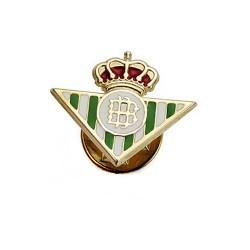 Pin oro 9k escudo Real Betis 16mm. esmaltado [AB4187]