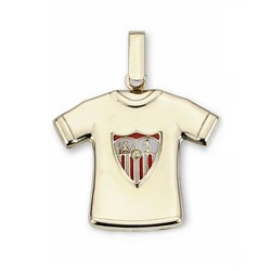 Camiseta Sevilla FC oro de ley 9k escudo estampado  [AA1900]