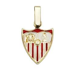 Colgante escudo Sevilla FC oro de ley 18k 14mm. esmaltado  [AA7452]