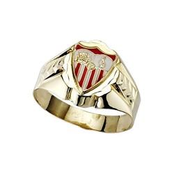 Sello escudo Sevilla FC oro de ley 9k cadete esmalte [8701]