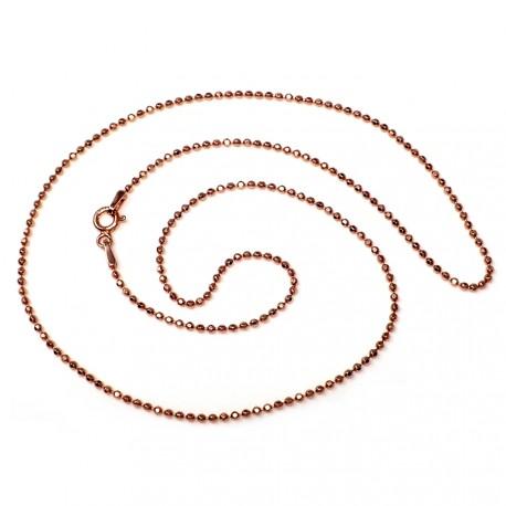 Cadena plata Ley 925um rosa bola diamantada 1,5mm. 40-50 cm. [5738]