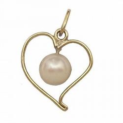 Colgante oro 18k perla [424]