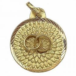 Medalla oro 18k alianzas del amor [643]