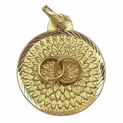 Medalla oro 18K alianzas del amor  [80]