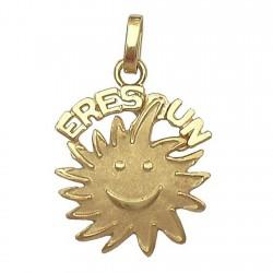 Colgante oro 18k Finor sol [444]