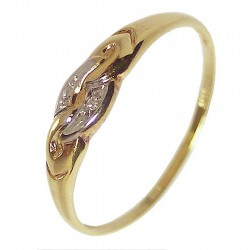 Sortija oro 18k brillante 0,005ct [218]