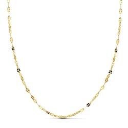 Cadena oro 18k maciza diamantada 45 cm x 1,5. 1.30 grs. [9624]