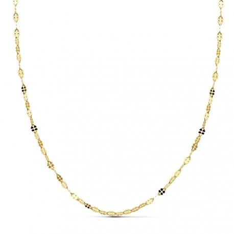 Cadena oro 18k maciza diamantada 50 cm x 1,5. 1.45 grs. [9625]