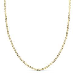 Cadena oro 18k maciza diamantada 50 cm. 2 mm. 3.50 gr. [9683]
