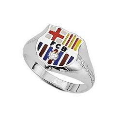 Sello escudo F.C. Barcelona Plata de ley silueta cadete [6966]