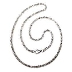 Cadena plata ley 925m 50cm. coreana 2.5mm. [AB2541]