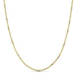 Cadena oro 18k forzada hueca 50cm. [AA2538]