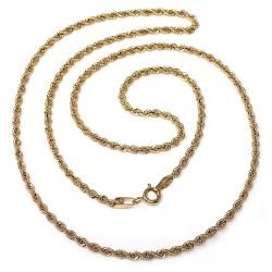 Cordón cadena oro 18k salomónico 40cm. normal 2mm. cierre reasa unisex