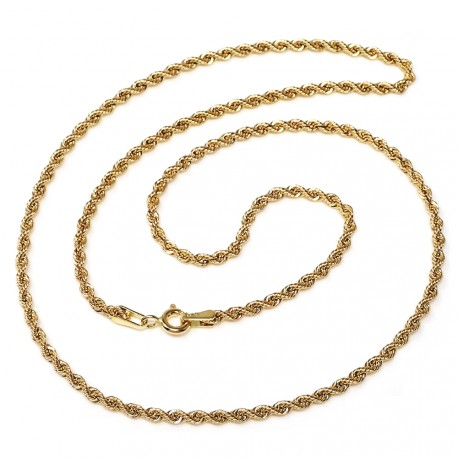 Cordón oro 18k salomónico 40cm. ligero 3.5mm. [AB4771]