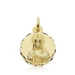 Medalla oro 18k escapulario Gran Poder Macarena 19mm. [AB3412]